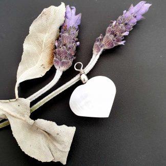 Selenite Heart Pendant